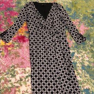 White House Black Market mid sleeve wrap dress